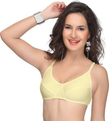 Alishan Bold Women's Full Coverage Yellow Bra