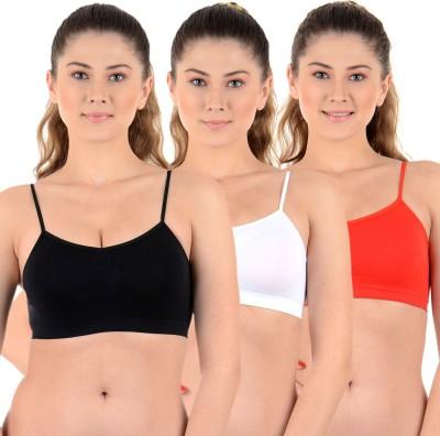 Mynte Premium Women's Sports Black, Beige, Red Bra