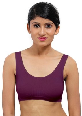 Style Feathers Women's Sports Purple Bra at flipkart