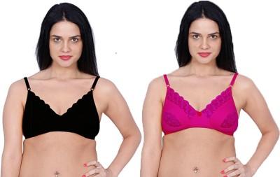 Aloft Lacer Women's Full Coverage Pink, Black Bra