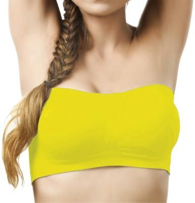 Shoba Women's Tube Yellow Bra