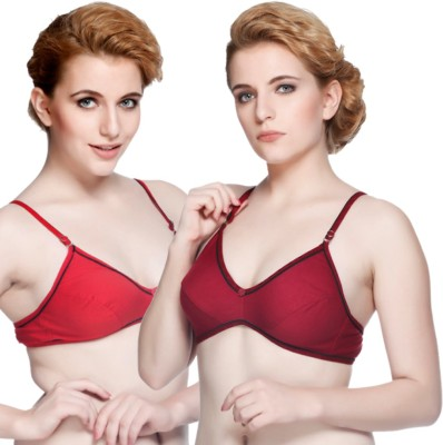 Nutex by Insaler Women,s Full Coverage Red, Maroon Bra
