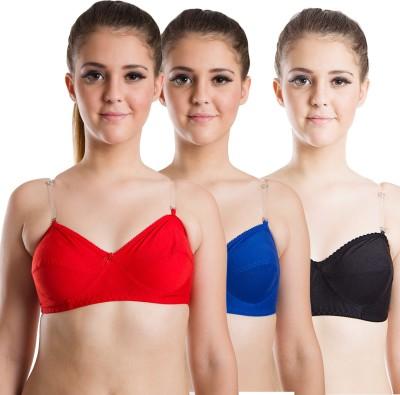 Beauty Aid Premium Women's Full Coverage Red, Blue, Black Bra at flipkart