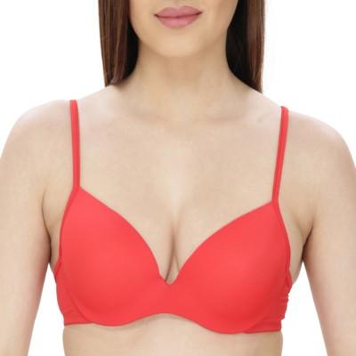 Secret Wish by Secret Wish Women's T-Shirt Red Bra