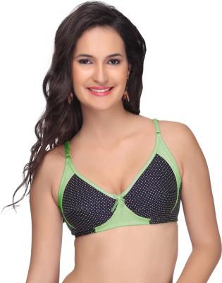 Alishan Designer Women's Full Coverage Green Bra