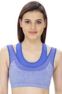 Secret Wish by Secret Wish Women's Sports Blue Bra