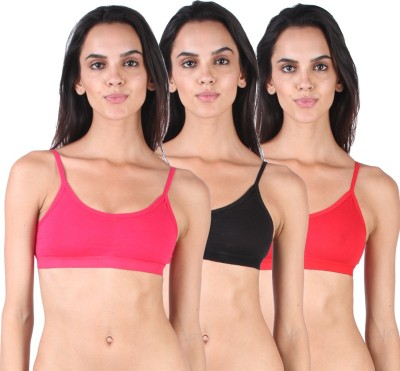 Lime Women's Sports Pink, Black, Red Bra