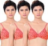 S4S Stylish Women's Push-up Orange Bra