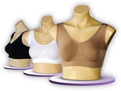 Melt N Slim Airebra Lift Supreme Aire Comfortable Body Fit Shaper Set Of Three (White,Beige,Black) Women's T-Shirt Beige, Black, White Bra