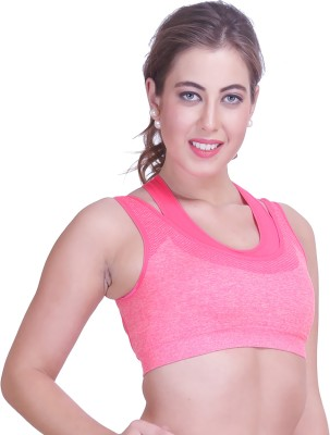 owomaniyah Women's Sports Pink Bra