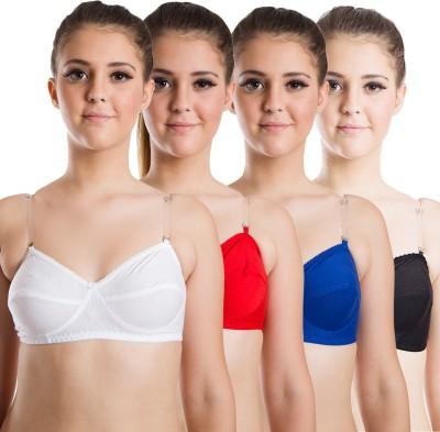 Beauty Aid Premium Women's Full Coverage White, Red, Blue, Black Bra at flipkart