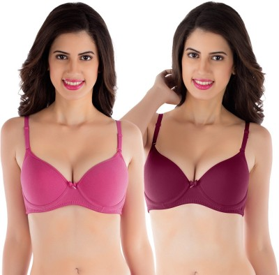 Tweens by Belle Lingeries - Padded Underwire Women's T-Shirt Pink Bra