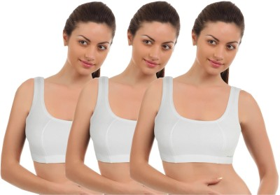 Vimal White Womens Sports Bra