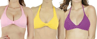 Rowena Women's Push-up Pink, Yellow, Purple Bra