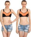 Body Liv Gym Women's Sports Orange Bra