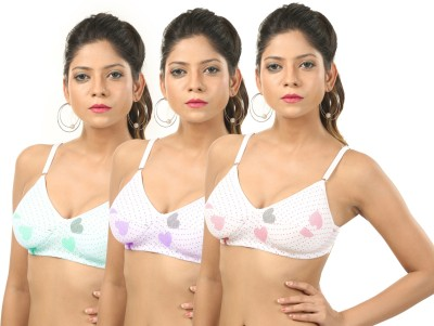 Body Liv MUMTAZ-3 Women's Full Coverage Multicolor Bra