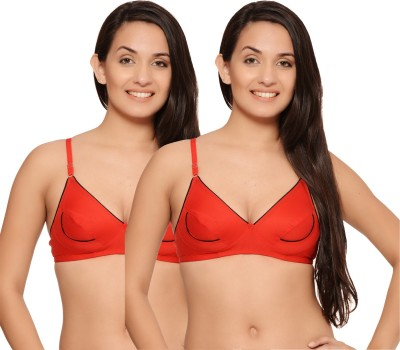ShowTime Women's Full Coverage Red, Red Bra