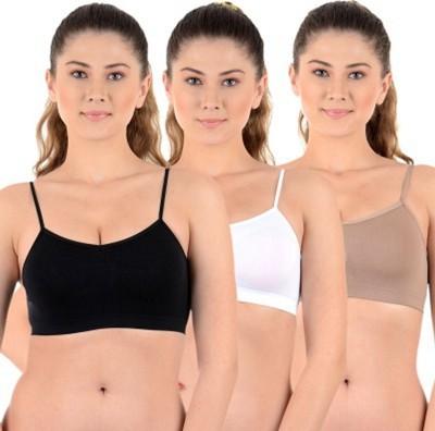 Shoba Women's Sports Black, White, Beige Bra