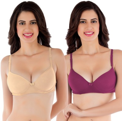 Tweens by Belle Lingeries - Push-Up Underwire Women's Push-up Beige Bra