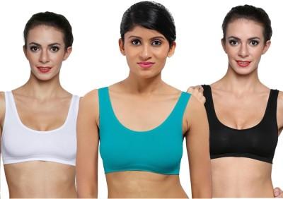 La Verite Pro Women's Sports Black, White, Blue Bra