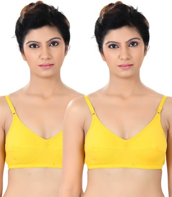 S4S Stylish Women's Full Coverage Yellow Bra