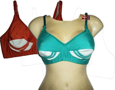 Goldline Nikita Women's Full Coverage Red, Green Bra