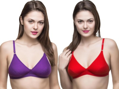 Docare Trendy Women's Full Coverage Purple, Red Bra