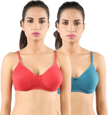 Extreme Women's Full Coverage Red, Green Bra