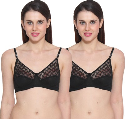 Colors Black Women's Full Coverage Black Bra