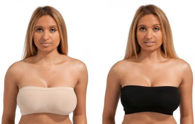 DealSeven Fashion Women's Tube Black, Beige Bra at flipkart