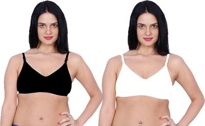 Aloft Khazanna Women's Full Coverage White, Black Bra