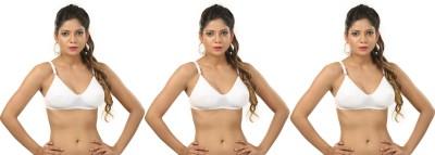 Body Liv Padded-Disha Women's Full Coverage White Bra