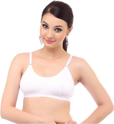 MyBra Plain Comfortable Women's Sports White Bra