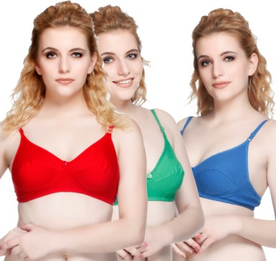 Nutex by Insaler Women,s Full Coverage Red, Blue, Green Bra