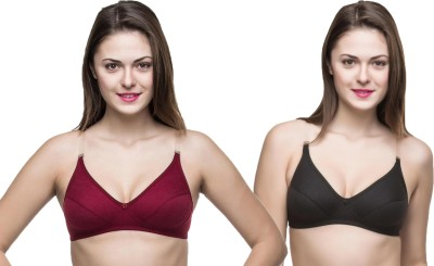 Docare Trendy Women's Full Coverage Black, Maroon Bra