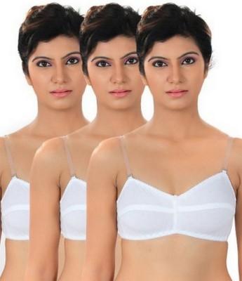 Shoba Women's Tube White, White, White Bra