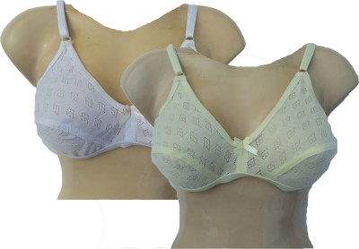 Goldline Summer Cool Women's Full Coverage White, Yellow Bra
