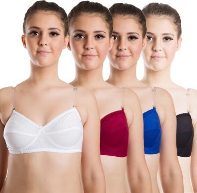 Beauty Aid Premium Women's Full Coverage White, Maroon, Blue, Black Bra at flipkart
