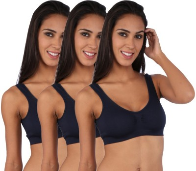 Novel Sporty Women's Sports Dark Blue Bra