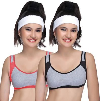 Alishan Sports Bra Women's Sports Black, Orange Bra