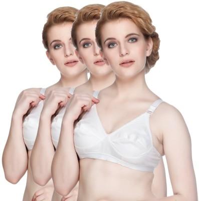 Jayhari Women's Full Coverage White Bra