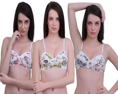JSR Paris Beauty Pro Women's Full Coverage Pink, Blue, Green Bra