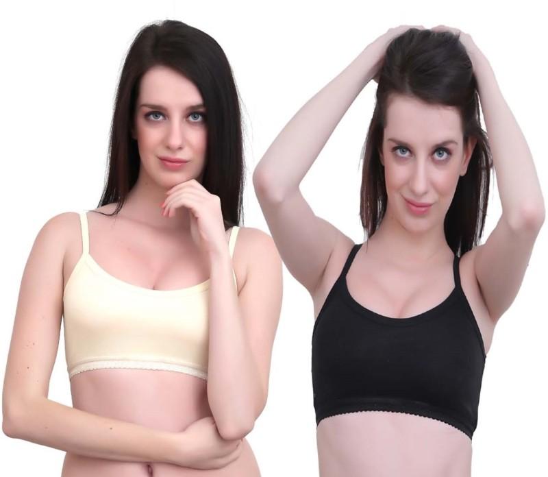 JSR Paris Beauty Pro Women's Sports Black, Beige Bra