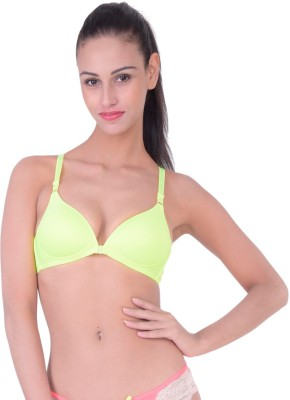 PrivateLifes Naughty Collection Women's T-Shirt Green Bra