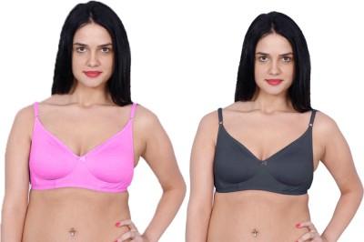 Aloft Dainas Women's Full Coverage Pink, Grey Bra