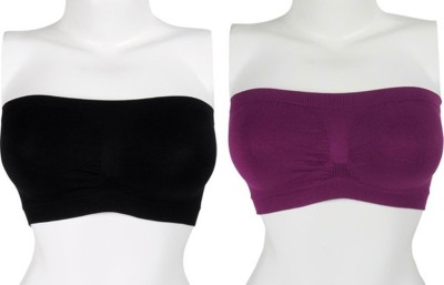 Our Rituals CDBP4 Women's Tube Black, Purple Bra