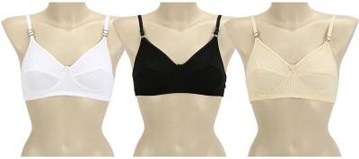 s.s enterprises Women's Bralette Black, Beige, White Bra