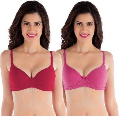 Tweens by Belle Lingeries - Padded Underwire Women's T-Shirt Red Bra
