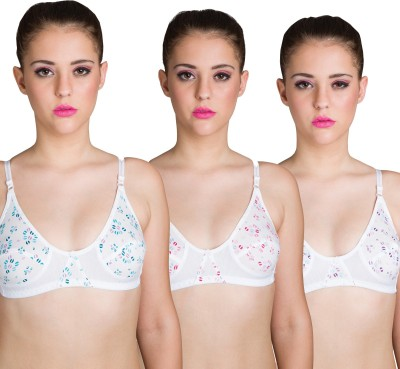 Beauty Aid Premium Women's Full Coverage White, Light Blue, Pink, Blue Bra at flipkart