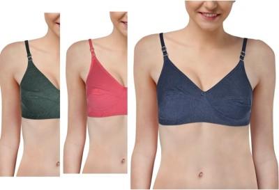 Bodyfem Perfect Party Wear Bra Women's Full Coverage Pink, Grey, Dark Blue Bra